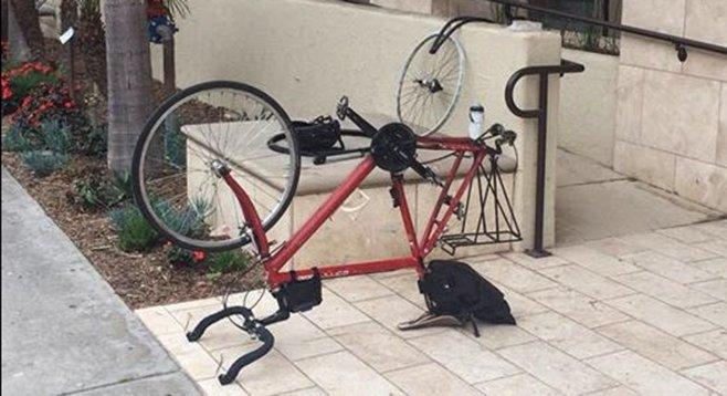 The bikeist distress signal