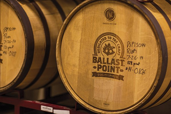 Ballast Point also has an off-site location where they have about 500 barrels of aging whiskey, bourbon, and rum.