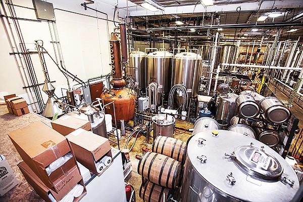 Distilling room at Ballast Point Spirits