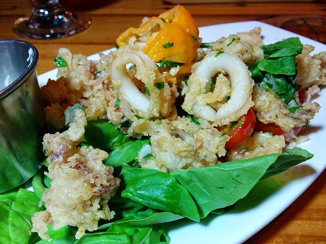 Watch out for the peppers on the calamari