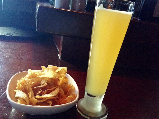 Chips and shandy