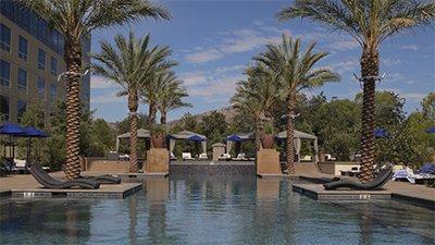 The pool at Viejas Casino & Resort