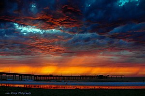 September 2005 sunset at Ocean Beach Pier          Ocean Beach, San Diego, California 92107