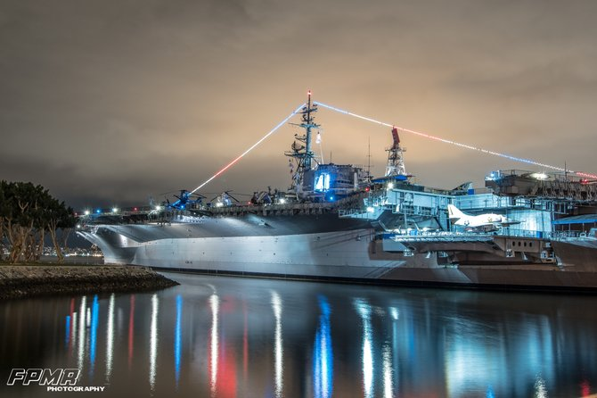 One of the best places to go to in San Diego at night #USSMIDWAY #DOWNTOWN #SEAPORTVILLAGE