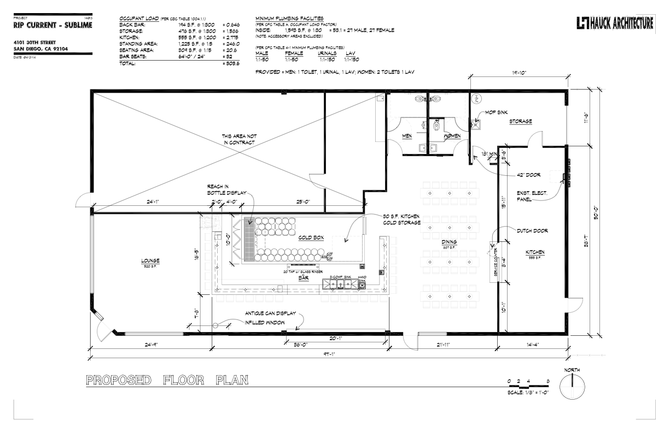 Plans for the upcoming Rip Current tasting room in North Park.