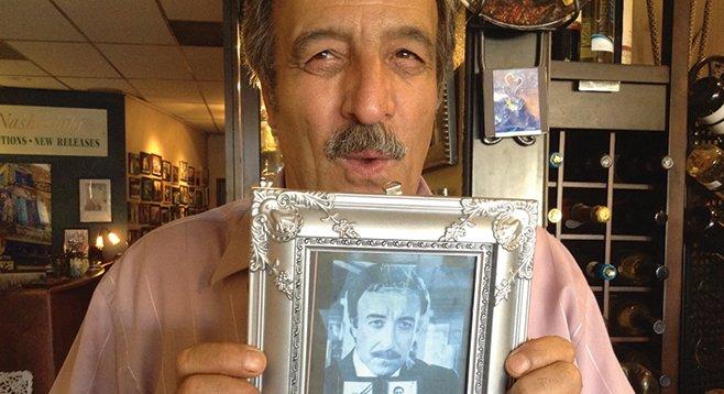 Sami and his look-alike (Peter Sellers)