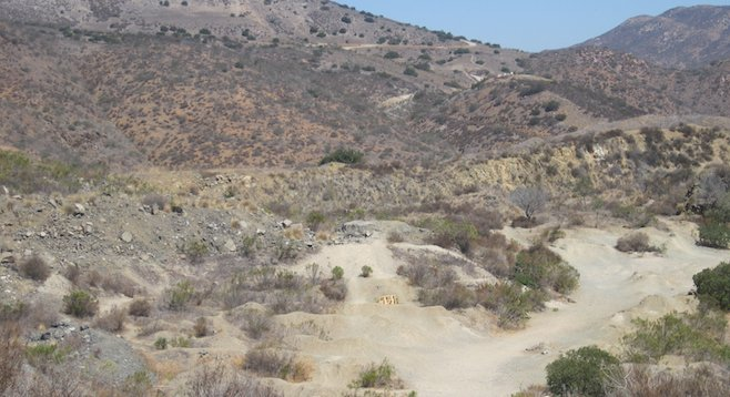 The former quarry that is currently the Deerfield BMX area
