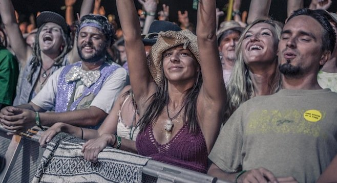 Concertgoers at the 2013 Lockn' Festival