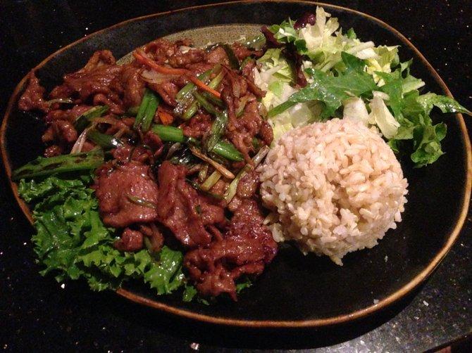 Mongolian – lamb instead of beef. Khan's Cave.