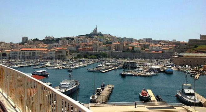 The Mediterranean harbor of Marseilles, France.