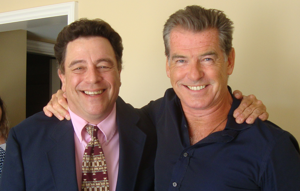 The handsomest man on the planet and Pierce Brosnan.