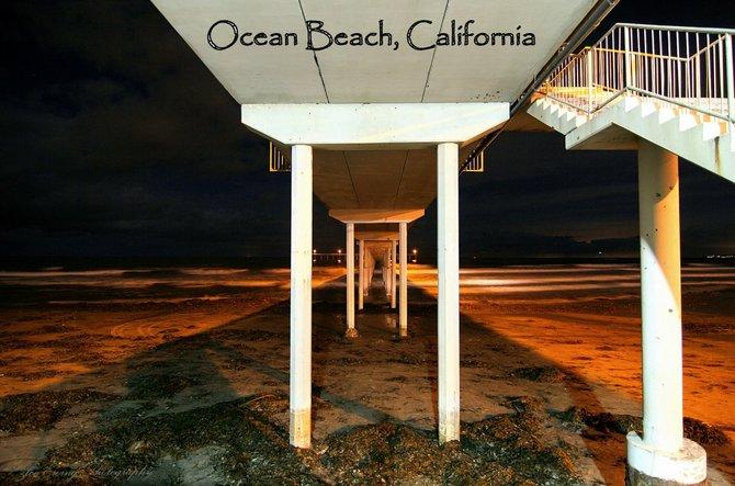 OB Pier at Night- Ocean Beach 92107