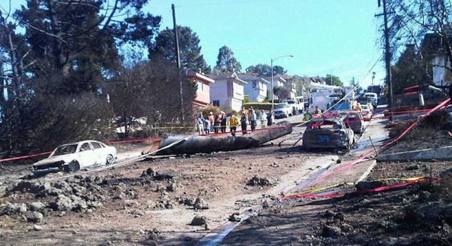 Aftermath of San Bruno pipeline explosion