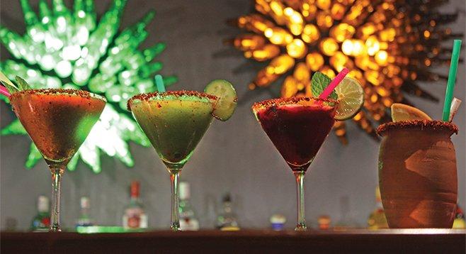 Tamarind, cucumber, and jamaica martinis as truth serum.