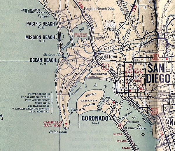 California Map San Diego County.Map Makers Did The Best They Could During Wwii San Diego Reader