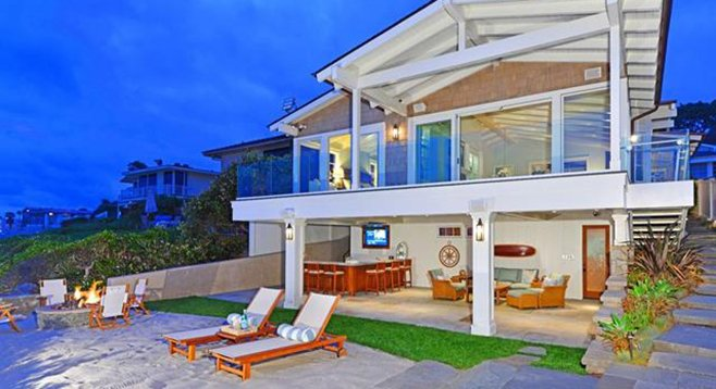 Backyard with access to a secluded stretch of coast