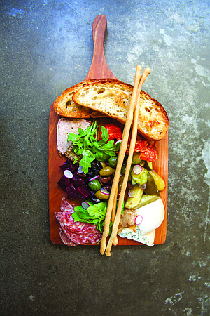 The Whisknladle charcuterie plate