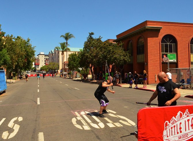 Stickball league in Little Italy.  August 30th, 2014.