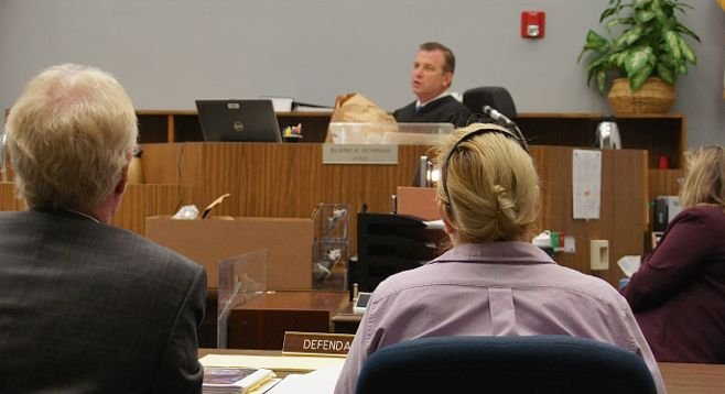 Judge Bowman said he will not allow jury to see bags and bags of pill bottles found. Photo by Eva