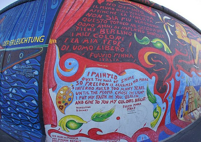 East Side Gallery, a mural-covered section of the Berlin Wall.
