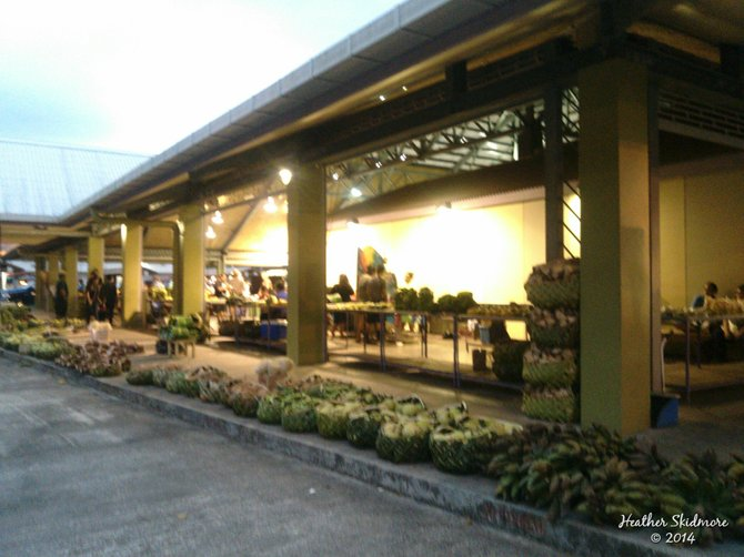 First Friday at the marketplace in Pago Pago, American Samoa.
