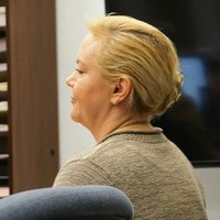 Julie Harper assisted in jury selection today, Sept 10, 2014. Photo by Eva