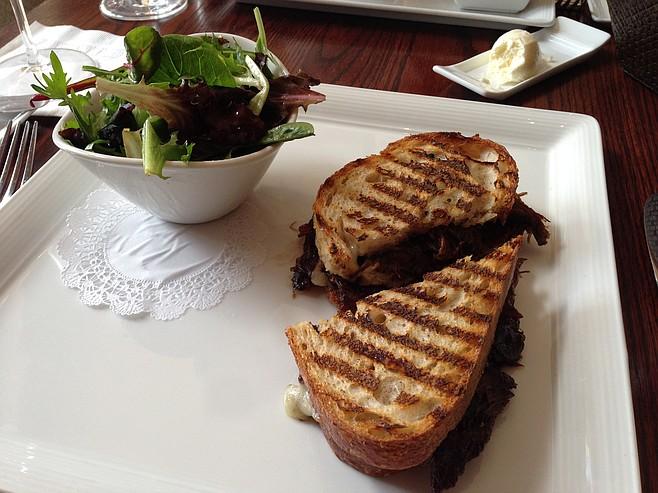 Sumptuous short rib panini