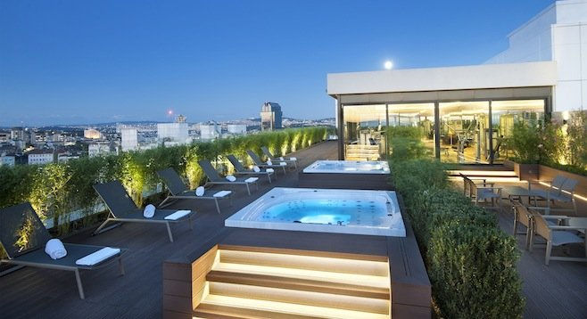 Marti Istanbul Hotel's rooftop spa