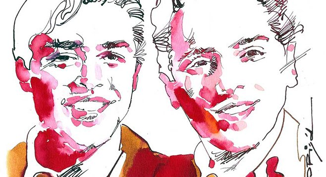 Larry Page and Sergey Brin, by Graziano Origa