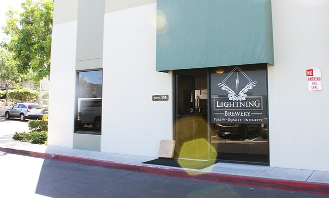 Entrance to new Lightning Brewery tasting room in Poway