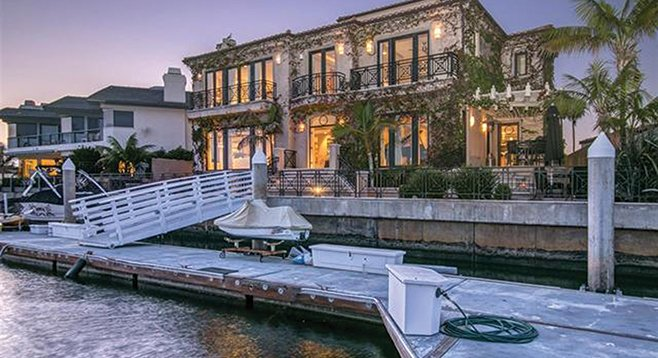 Eighty-six feet of bay frontage and a 75-foot-long dock