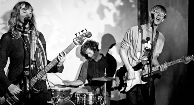 Brooklyn-based slack-rock trio Total Slacker slink into Casbah Sunday night.
