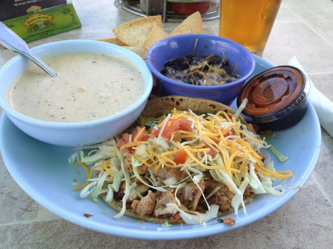The fish taco may be front and center, but the clam chowder and black beans were the stars.