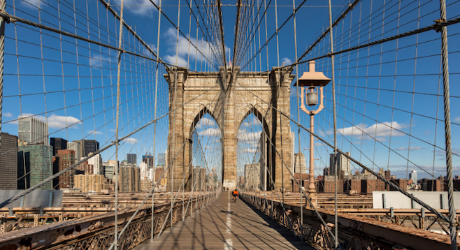 The iconic Brooklyn Bridge. No shame in being a tourist when it involves sights like these. (Stock photo)