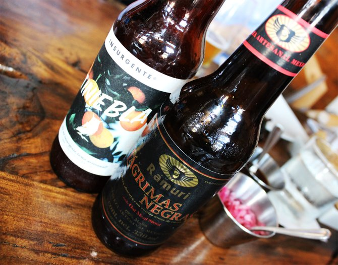 Baja craft beers enjoyed at La Caza Club in Tijuana - Image by @sdbeernews