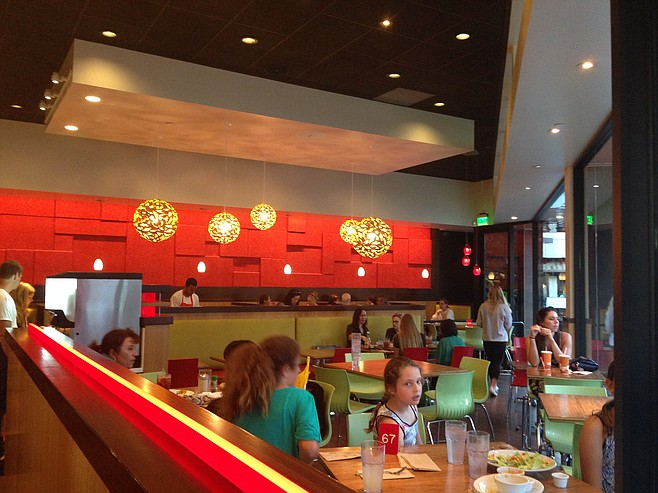 Interior of Veggie Grill in University Town Center