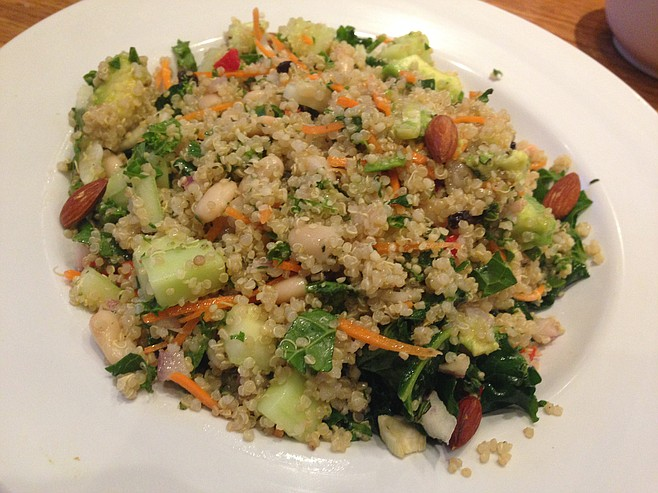 The Quinoa Power Salad at Veggie Grill in University Town Center