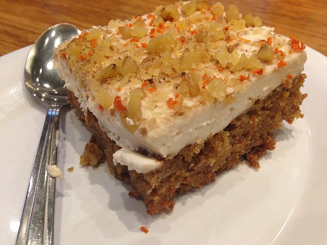Carrot Cake at Veggie Grill