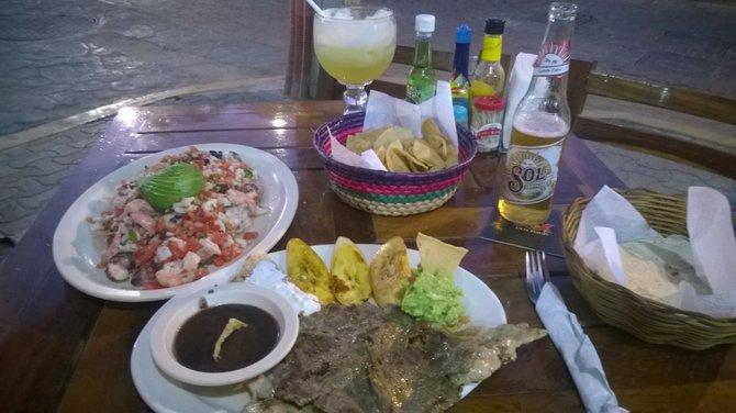 Dinner at Caribe Mexicano