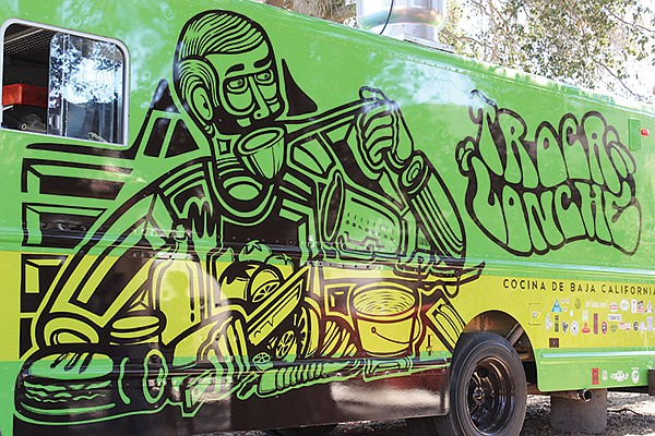 The mobile unit of Tijuana's Verde y Crema, Troca Lonche also focuses on locally sourced Baja Med cuisine