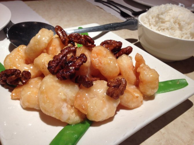 Sweet and savory honey garlic shrimp.