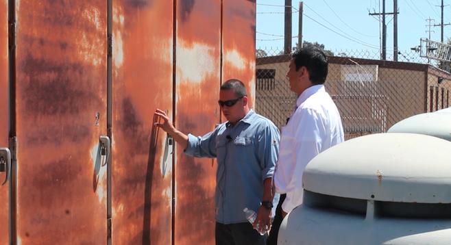 Daniel Orozco led councilman David Alvarez on a tour earlier this month