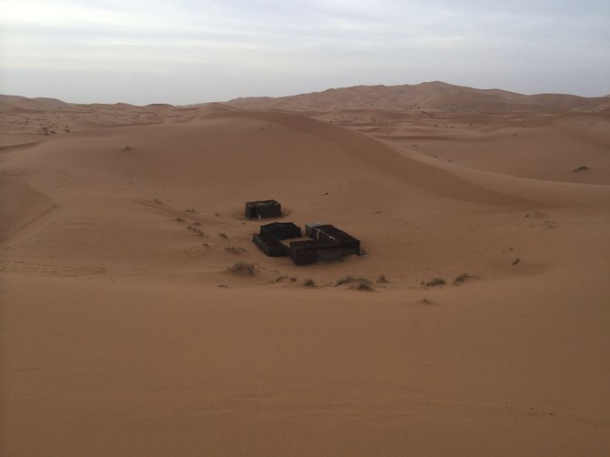 After a few hours, we reached the permanent bivouac site owned by our guesthouse.