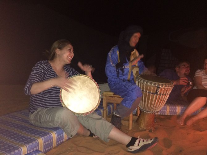After dinner there was drumming under the stars.
