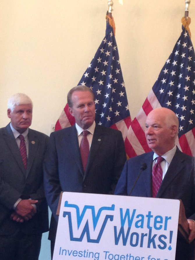 Rep. Bob Gibbs, Mayor Kevin Faulconer, and Sen. Ben Cardin sharing their thoughts on the importance of water infrastructure for our economy.