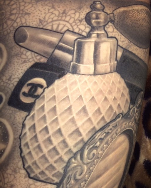 Tattoo you this is my vintage style perfume bottle for Propaganda tattoo el cajon