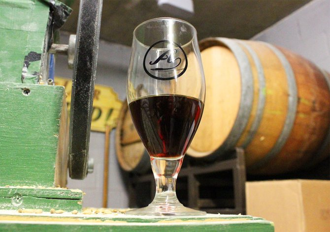 Amplified Ale Works' first Barrel Works release, Barrel-aged Rare Form - Image by @sdbeernews