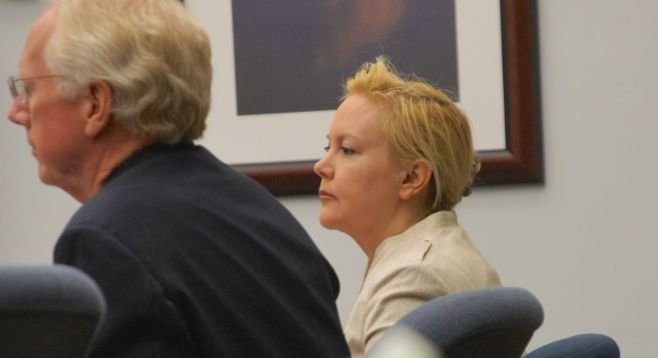 Defense attorney Paul Pfingst and Julie Harper, October 1, 2014