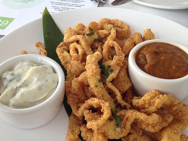 Crispy curried calamari.