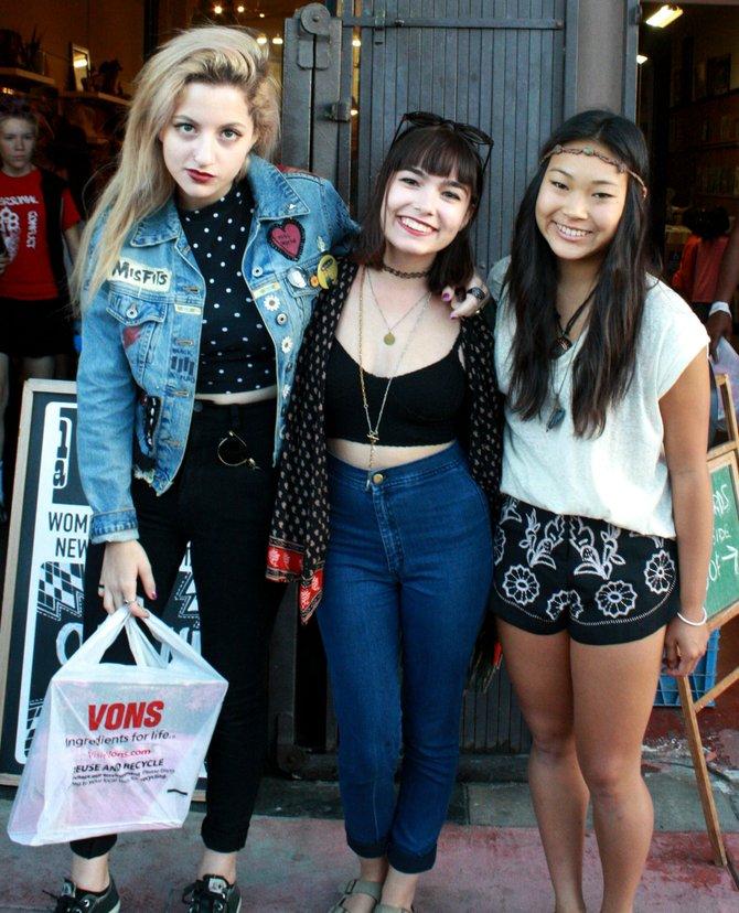 Emilia Ortez, Angela Schiaffino, and Becca Tang